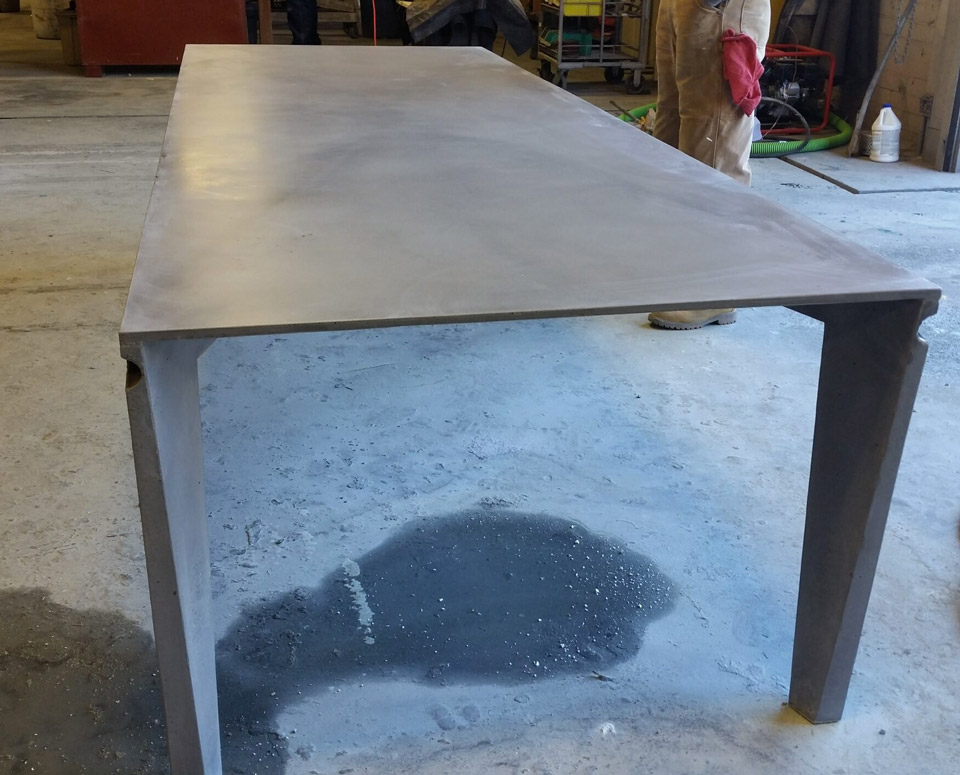 One piece table